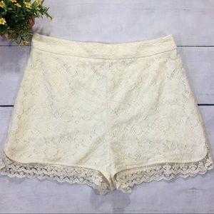 Kimchi Blue High Waist Lace Shorts